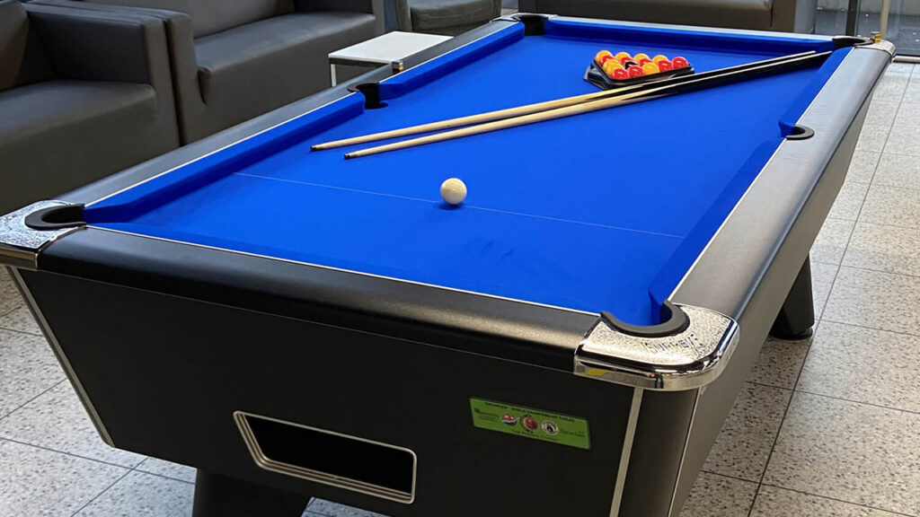 Coin-Fed Pool Tables